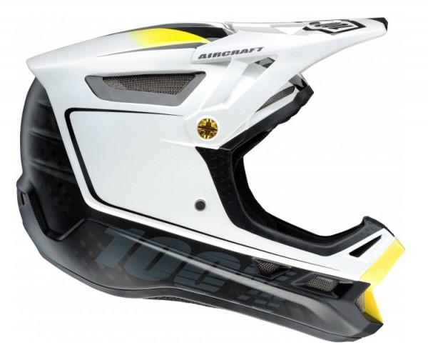 Aircraft Downhill Helm Bi-Turbo White