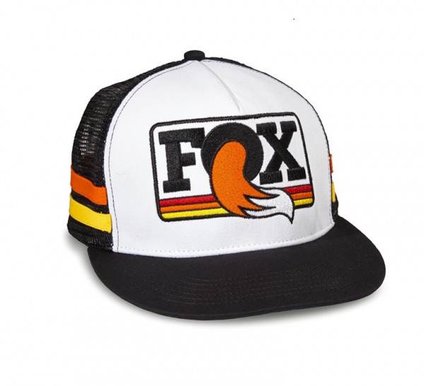 Heritage Trucker Hat - black/white/orange