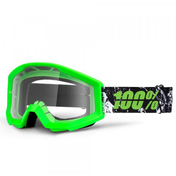 Strata MX Goggle - Crafty Lime Clear Lens