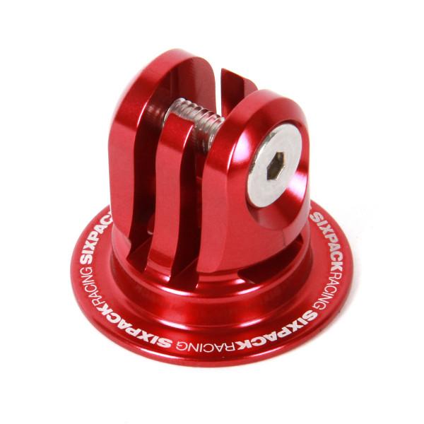Aheadcap mit Kamerahalterung - rot