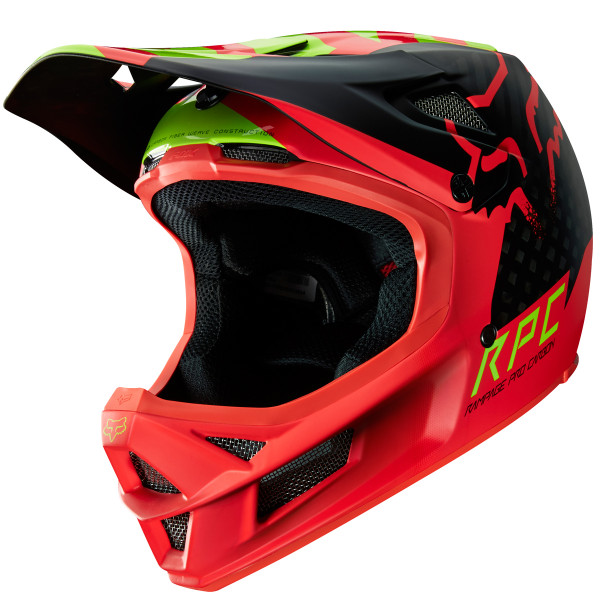Rampage Pro Carbon Fullface Helm Libra Red